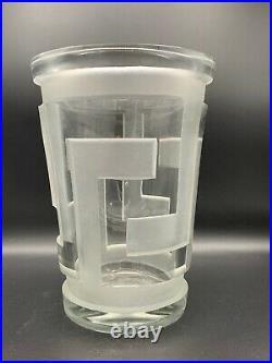 Vase en verre art deco de Jean Luce