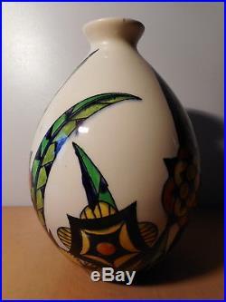 Vase faience art deco Belge Keramis Boch Freres La Louvière ceramique Belgique