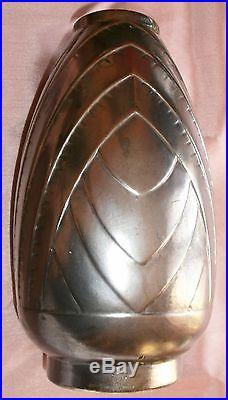 Vase géométrique ART DECO vers 1930 en faïence Cachet à identifier + Superbe +