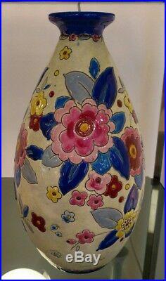 Vase keramis, période art déco, Charles Catteau