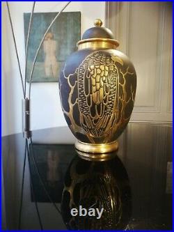 Vase montieres Guy Arnoux art deco
