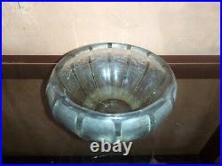 Vase ovoide Schneider signé, Art Déco, degagé à l'acide