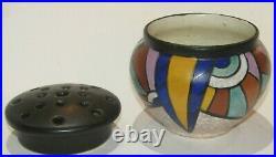 Vase pique fleurs Antoine DUBOIS Mons pottery céramique Montoise ART DECO CUBIST