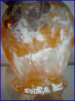 Vase signé CHARDER pâte de verre art-déco le verre français