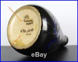 Vase tronconique élancé Odetta art-déco breton 1930 Bretagne grès HB Quimper