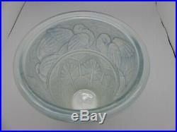 Vase verre moulé Marius-Ernest SABINO (1878-1961) Colombes Art déco (27389)