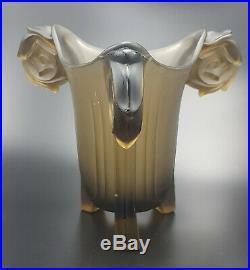 WALTHER & SOHNE RARE VASE ART DECO en VERRE HARALD 1935 Art glass vase